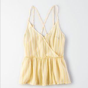 american eagle cross front cami